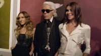 Sarah Jessica Parker, Karl Lagerfeld and Carine Roitfeld in