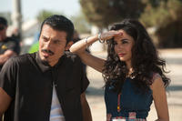 Rigo Sanchez as Javi and Martha Higareda as Lupe in