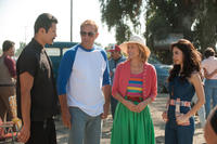 Rigo Sanchez as Javi, Kevin Costner as Jim White, Maria Bello as Cheryl White and Martha Higareda as Lupe in