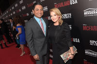 Omar Leyva and guest at the California premiere of