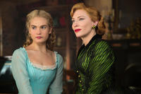 Lily James and Cate Blanchett in