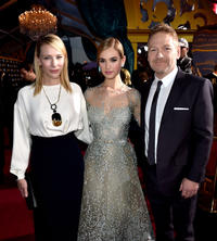 Cate Blanchett, Lily James and Kenneth Branagh at the California premiere of
