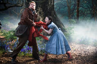 James Corden as The Baker and Lilla Crawford as Red Riding Hood in