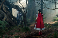 Johnny Depp as The Wolf and Lilla Crawford as Red Riding Hood in