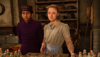 Tony Revolori as Zero Moustafa and Saoirse Ronan as Agatha in