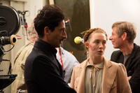 Adrien Brody and Saoirse Ronan on the set of