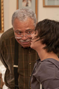 James Earl Jones as Frank McCarthy and Vanessa Hudgens as Agnes 'Apple' Bailey in
