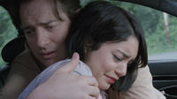 Vanessa Hudgens as Agnes 'Apple' Bailey and Brendan Fraser as Tom Fitzpatrick in