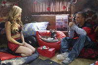 "Brooke Butler as Tracy Bingham and Nicholas S. Morrison as Ben in the horror comedy ""ALL CHEERLEADERS DIE"