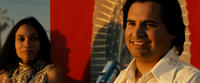 Michael Pena as Cesar Chavez and Rosario Dawson as Dolores Huerta in