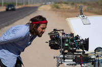 Diego Luna on the set of