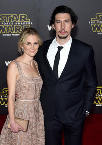Joanne Tucker and Adam Driver at the California premiere of