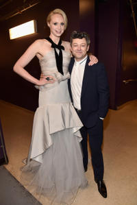 Gwendoline Christie and Andy Serkis at the California premiere of
