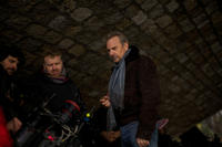 Director McG and Kevin Costner on the set of
