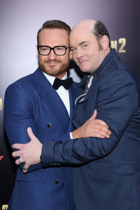 David Koechner and guest at the New York premiere of