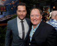 Dane Cook and executive producer John Lasseter at the California premiere of