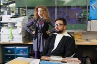 Natasha Lyonne as Ms. Hoegel and Horatio Sanz as Principal Crowe in