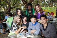 Molly Tarlov as Sophie, Xosha Roqemore as Caprice, Andrea Bowen as Shley, Sasha Pieterse as Fawcett, Paul Iacono as Brent Van Camp, Michael J. Willett as Tanner and Derek Mio as Glenn in
