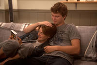 Shailene Woodley as Hazel and Ansel Elgort as Gus in