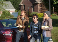 Ansel Elgort as Gus, Nat Wolff as Isaac and Shailene Woodley as Hazel in