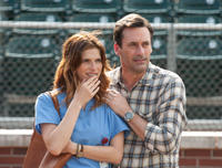 Lake Bell as Brenda and Jon Hamm as JB Bernstein in