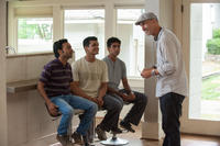 Pitobash, Madhur Mittal, Suraj Sharma and director Craig Gillespie on the set of