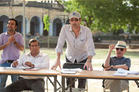 Pitobash as Amit, Darshan Jariwala as Vivek, Jon Hamm as JB Bernstein and Alan Arkin as Ray in
