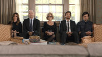Tina Fey as Wendy, Corey Stoll as Paul, Jane Fonda as Hilary, Jason Bateman as Judd and Adam Driver as Phillip in