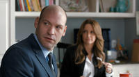 Corey Stoll as Paul Altman and Tina Fey as Wendy Altman in