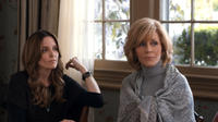 Tina Fey as Wendy Altman and Jane Fonda as Hillary Altman in