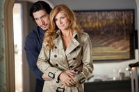Adam Driver as Phillip Altman and Connie Britton as Tracy Sullivan in