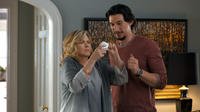 Debra Monk as Linda Callen and Adam Driver as Phillip Altman in