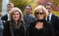 Debra Monk as Linda Callen and Jane Fonda as Hillary Altman in
