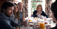 Jason Bateman as Judd Altman, Tina Fey as Wendy Altman, Corey Stoll as Paul Altman and Jane Fonda as Hillary Altman in