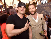 Robert Rodriguez and Jai Courtney at the after party of 'Terminator Genisys' during the California premiere.
