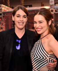 Megan Ellison and Emilia Clarke at the after party of 'Terminator Genisys' during the California premiere.