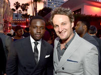 Dayo Okeniyi and Jason Clarke at the after party of 'Terminator Genisys' during the California premiere.