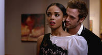 William Levy as Quinton Canosa and Sharon Leal as Zoe Reynard in