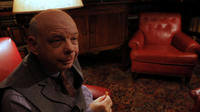 "Wallace Shawn as Dr. Fieldman in the psychedelic comedy ""DON PEYOTE"""