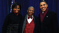 B.B. King with First Lady Michelle Obama and President Obama.