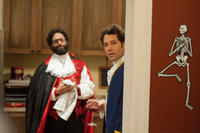Jason Mantzoukas as Bob and Paul Rudd as Joel in