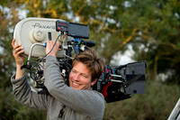 Director Thomas Vinterberg on the set of