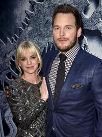 Anna Faris and Chris Pratt at the California premiere of