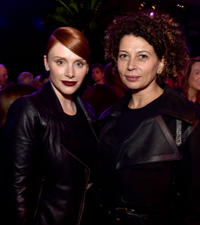 Bryce Dallas Howard and Donna Langley at the after party of 'Jurassic World' during the California premiere.