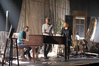 Lady Antebellum, Dave Haywood, Charles Kelley and Hillary Scott on the set of