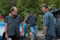 Director Michael Hoffman and star James Marsden on the set of