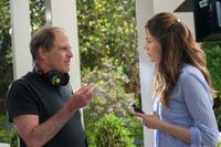 Director Michael Hoffman and star Michelle Monaghan on the set of