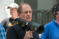 Director Michael Hoffman on the set of