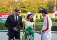 Armie Hammer as Illya, Alicia Vikander as Gaby and Luca Calvani as Alexander in