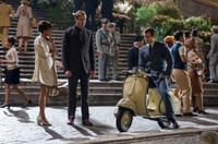 Alicia Vikander as Gaby, Armie Hammer as Illya Kuryakin and Henry Cavill as Napoleon Solo in